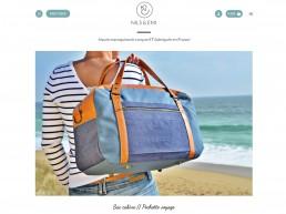 création site web et charte graphique pour marque de maroquinerie made in France Nils & Emi