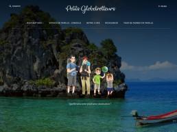 création de site web lorient site de voyage Petits Globetrotteurs par Agence 47.7